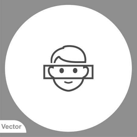 Face recognition icon sign vector, Symbol illustration for web and mobile