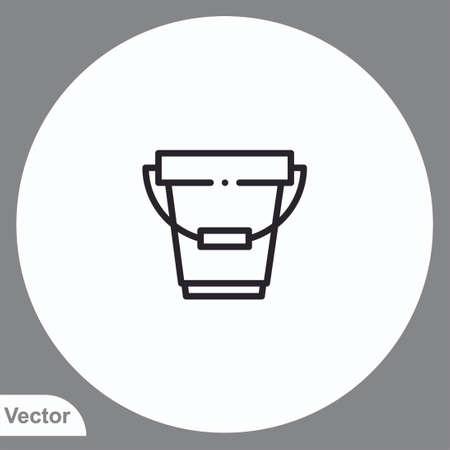 Bucket vector icon sign symbol 일러스트