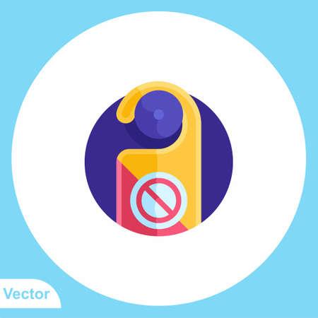 Door hanger vector icon sign symbol 일러스트
