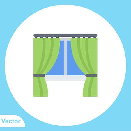 Curtain vector icon sign symbol 일러스트