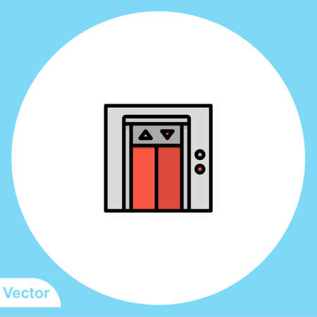 Elevator vector icon sign symbol 일러스트