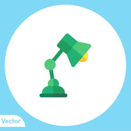 Desk lamp flat vector icon sign symbol