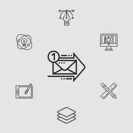 Mail vector icon sign symbol