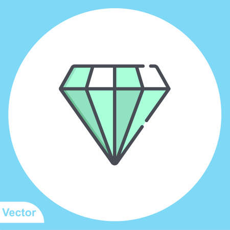 Diamond vector icon sign symbol 일러스트
