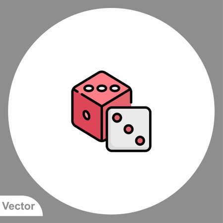 Dice vector icon sign symbol