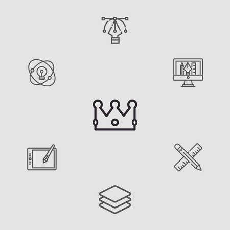 Crown vector icon sign symbol