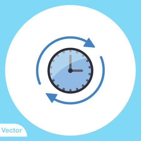 Wall clock vector icon sign symbol 일러스트