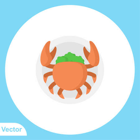 Crab vector icon sign symbol 일러스트