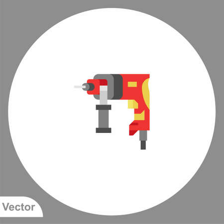 Driller icon sign vector, Symbol illustration for web and mobile