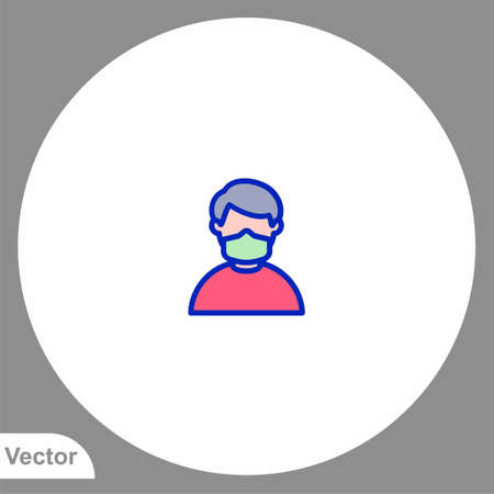Medical mask icon sign vector, Symbol illustration for web and mobile
