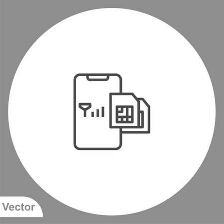 Sim card icon sign vector, Symbol illustration for web and mobile