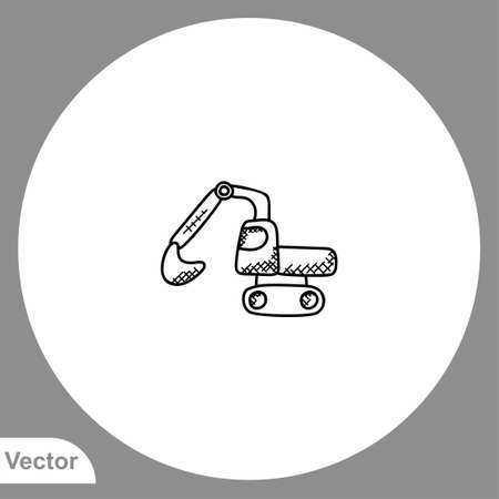 Excavator icon sign vector, Symbol illustration for web and mobile 일러스트
