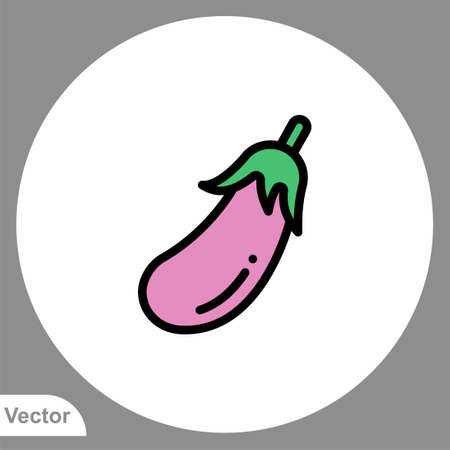 Eggplant vector icon sign symbol 일러스트