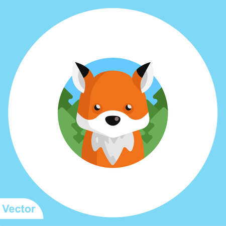 Fox vector icon sign symbol