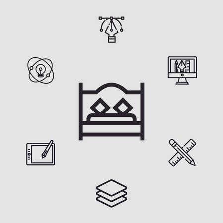 Bed vector icon sign symbol Vectores