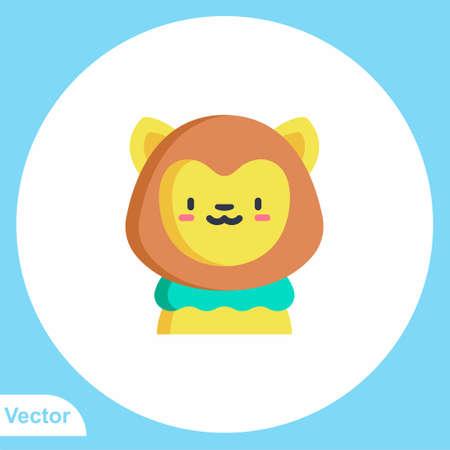 Lion vector icon sign symbol