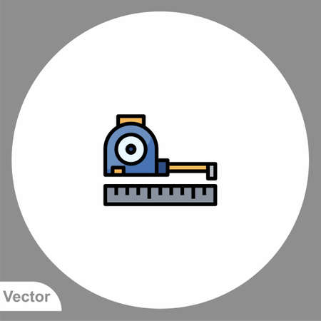 Measuring tape icon sign vector, Symbol illustration for web and mobile Ilustracja