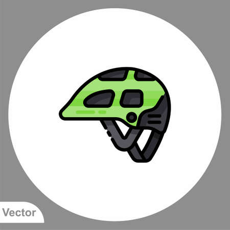 Bike helmet icon sign vector, Symbol illustration for web and mobile