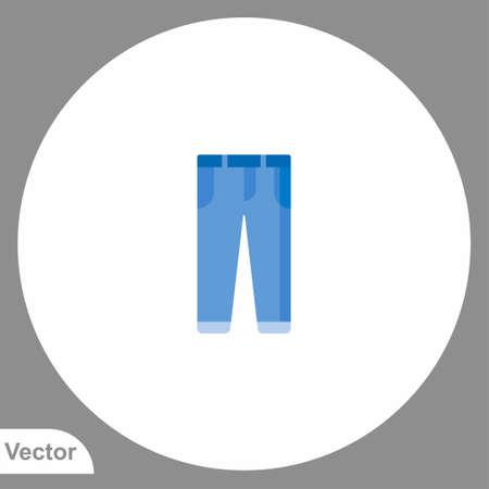Trousers vector icon sign symbol Illusztráció