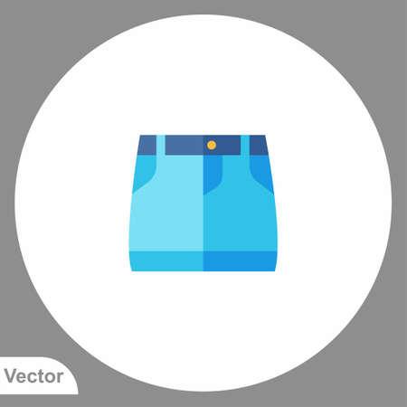 Skirt vector icon sign symbol