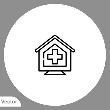 Quarantine vector icon sign symbol