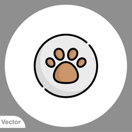 Paw print icon sign vector, Symbol illustration for web and mobile Stock Illustratie