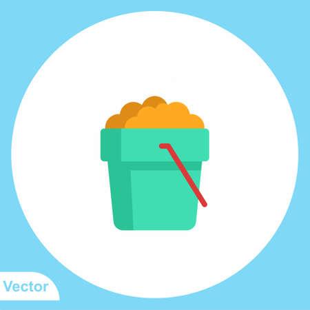 Sand bucket vector icon sign symbol Vectores