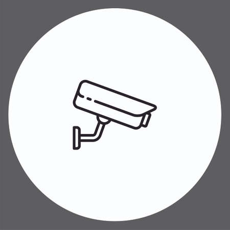 Security camera vector icon sign symbol Illusztráció