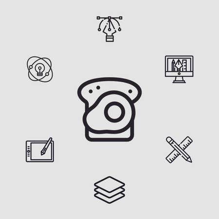 Bread vector icon sign symbol 向量圖像