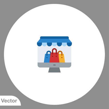 Online order vector icon sign symbol Stock Illustratie