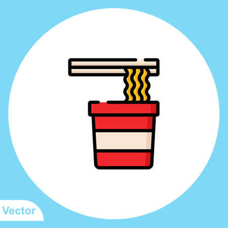 Noodle vector icon sign symbol
