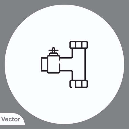Pipe vector icon sign symbol Ilustrace