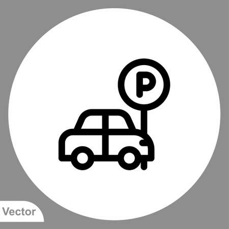 Parking icon sign vector, Symbol illustration for web and mobile Stock Illustratie