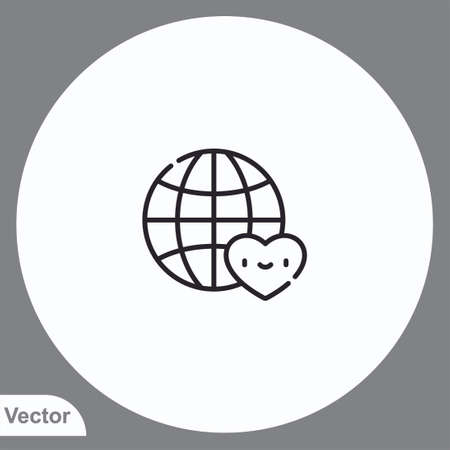 Save earth vector icon sign symbol