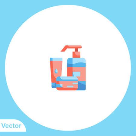 Skin cream flat vector icon sign symbol