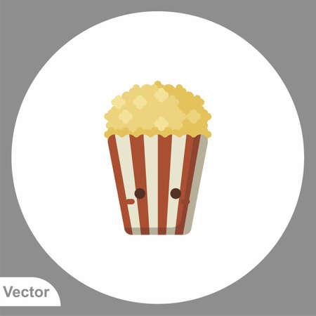 Popcorn vector icon sign symbol 일러스트