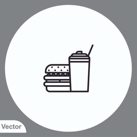Burger vector icon sign symbol 일러스트