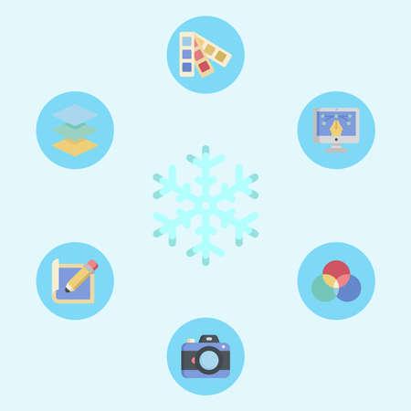 Snow vector icon sign symbol Vectores