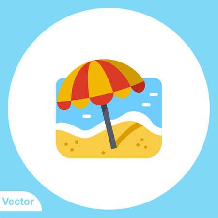 Beach vector icon sign symbol