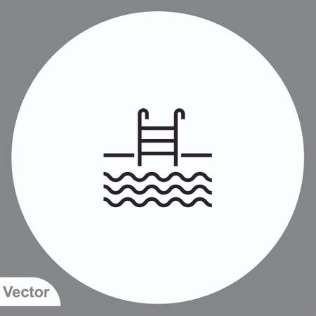 Swimming pool vector icon sign symbol