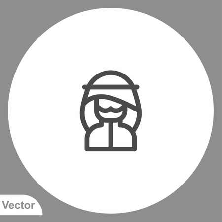 Muslim man icon sign vector, SSymbol illustration for web and mobile 矢量图像