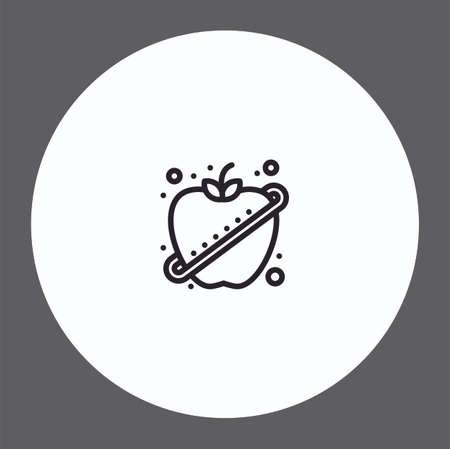 Apple vector icon sign symbol
