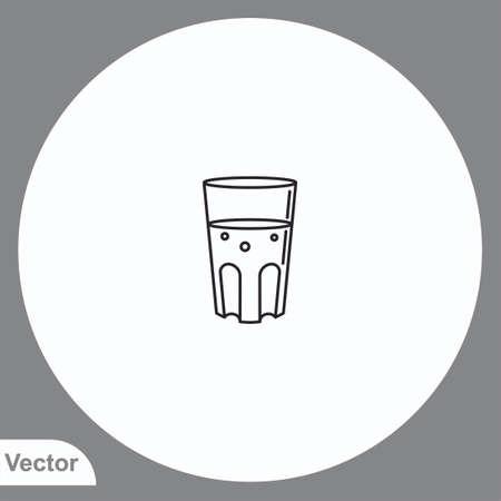 Water glass vector icon sign symbol Ilustração