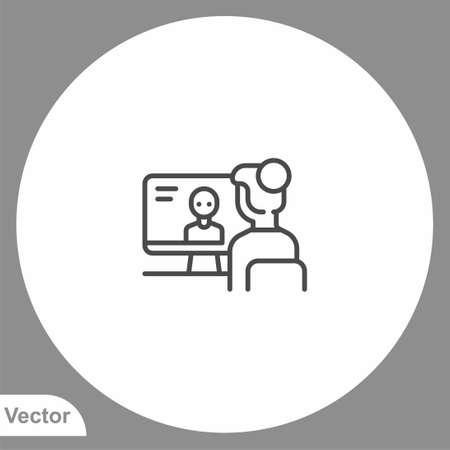 Video conference icon sign vector, Symbol illustration for web and mobile Ilustração