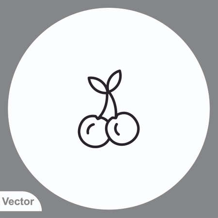 Cherry vector icon sign symbol
