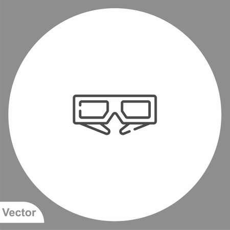 3d glasses icon sign vector, Symbol illustration for web and mobile Ilustração