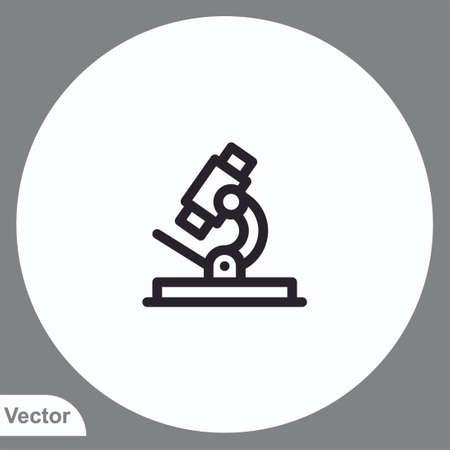 Microscope vector icon sign symbol
