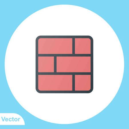 Firewall flat vector icon sign symbol