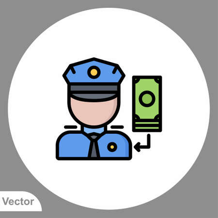 Policeman icon sign vector, Symbol illustration for web and mobile Illusztráció