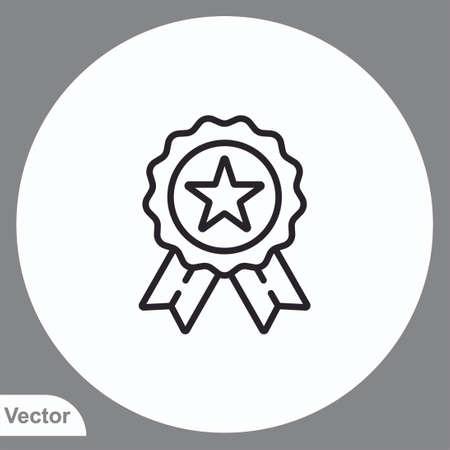 Medal vector icon sign symbol